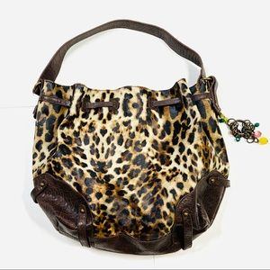 Jessica Simpson Purse Leopard Print Faux Leather